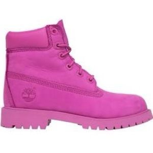 Timberland hot pink boots, 5.5